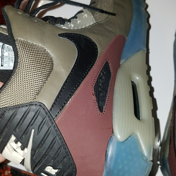 running shoes recognized brands good Nike Air Max 90 Sneakerboot Ice Dark Dune/Black